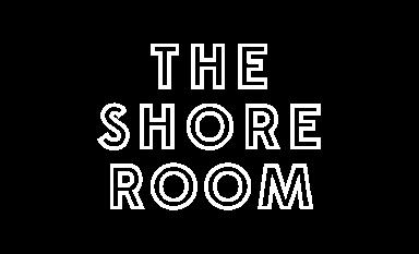 white logo for the shore room