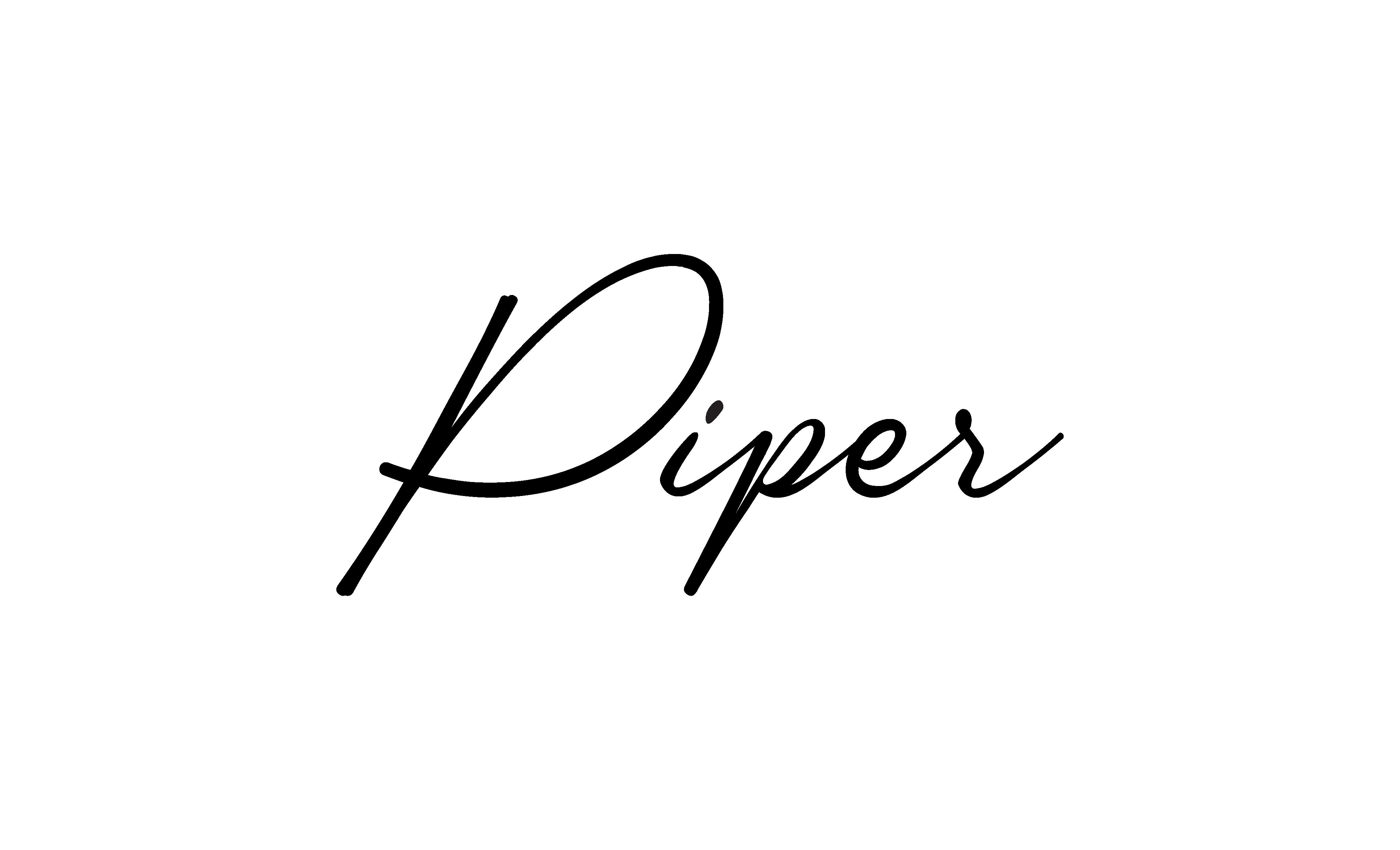 Piper Black Logo